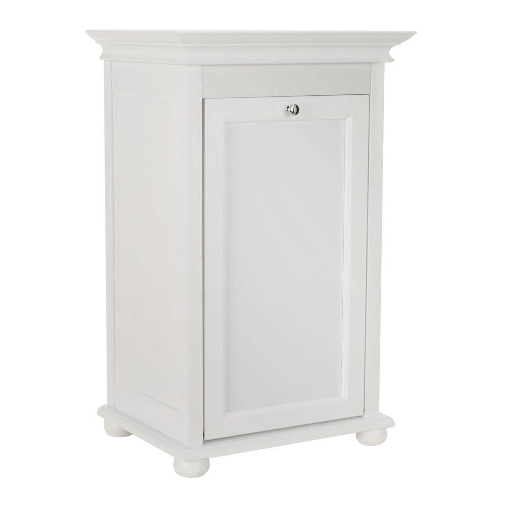 Home Decorators Collection Hampton Harbor 17 In Single Tilt Out Hamper In White 2601300410