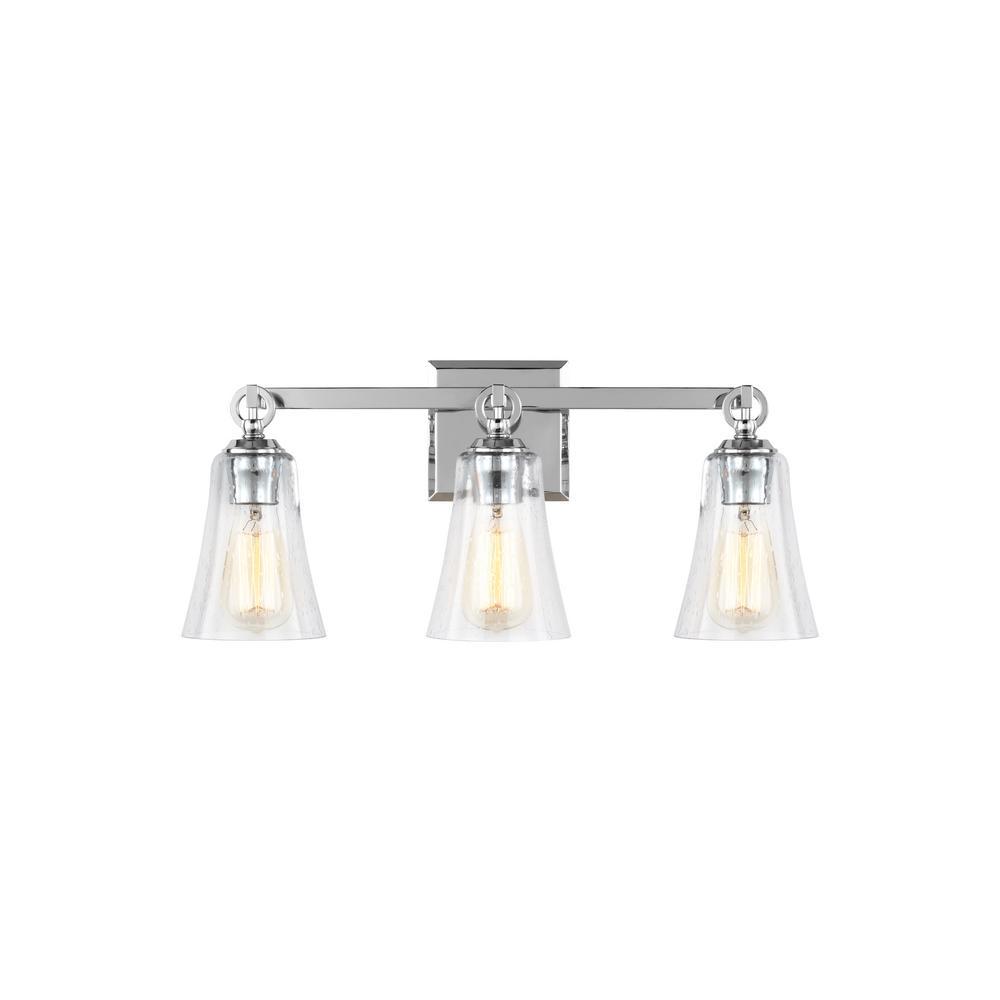 Feiss Monterro 3-Light Chrome Bath Light-VS24703CH - The Home Depot