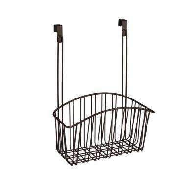 Contempo 10.5 in. W x 6.375 in. D x 14 in. H Over the Cabinet Large Basket in Bronze