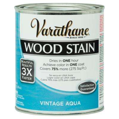 1 qt. 3X Vintage Aqua Premium Wood Interior Stain (Case of 2)