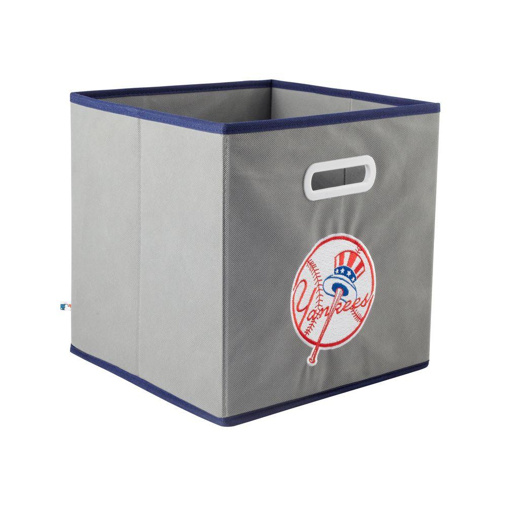 MyOwnersBox MLB STOREITS New York Yankees 10-1/2 in. x 10-1/2 in. x 11 in. Grey Fabric Storage Drawer