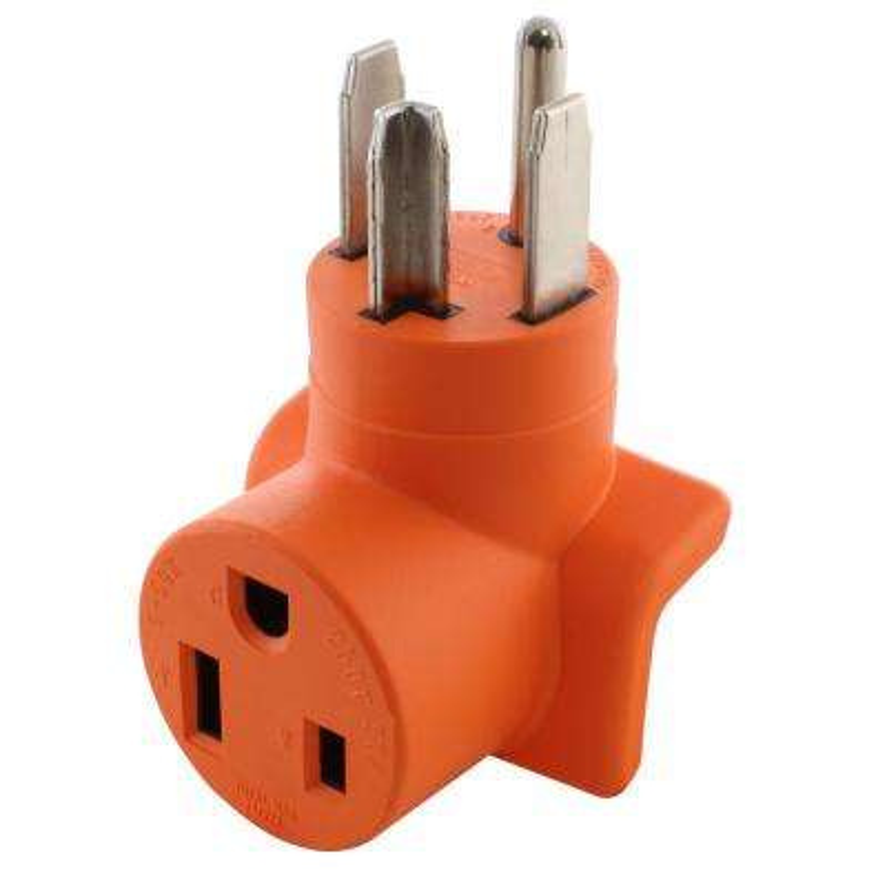 Plug Adapter 30 Amp 4-Prong Dryer NEMA 14-30P Plug to 50 Amp 250-Volt NEMA 6-50R Welder Adapter