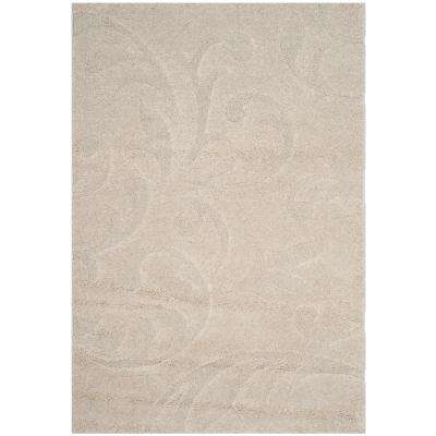 Florida Shag Cream 6 ft. x 9 ft. Area Rug