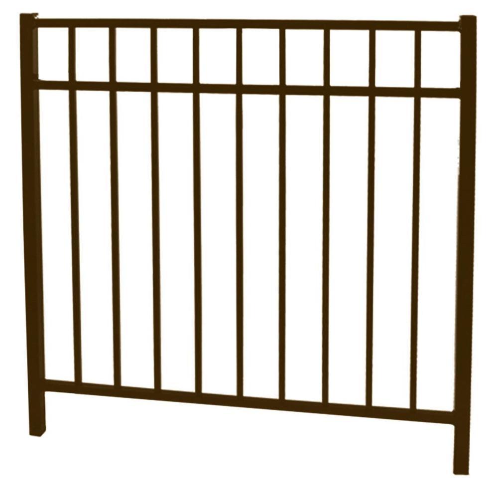 Vinnings 4 ft. W x 4.5 ft. H Bronze Aluminum Fence