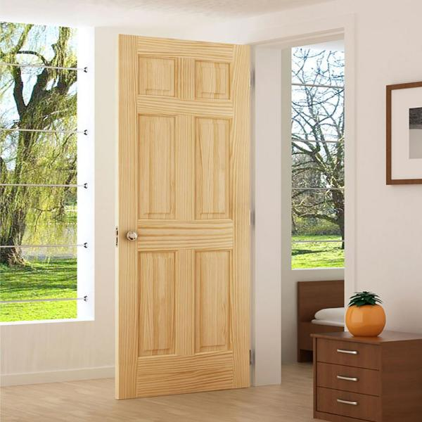 Unfinished 32 x 96 x 1.375 Colonial Six Panel Passage Door