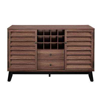 Gammon 12-Bottle Walnut Wine Cabinet