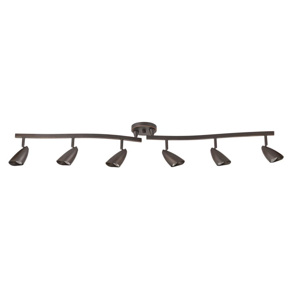Grayson 4.4 ft.  6-Light Oil Rubbed Bronze Halogen Track Lighting Kit