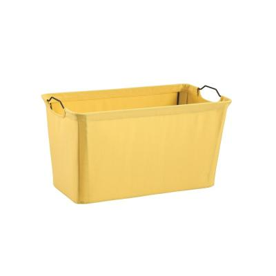 19.5 in. x 11 in. Yellow Wire Framed Fabric Bin
