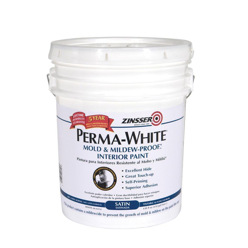 Perma-White 5 gal. Mold & Mildew-Proof Satin Interior Paint