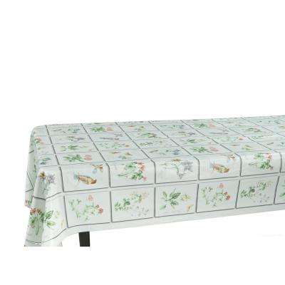 55 in. x 102 in. Indoor and Outdoor Butterfly Meadow Design Tablecloth for Dining Table