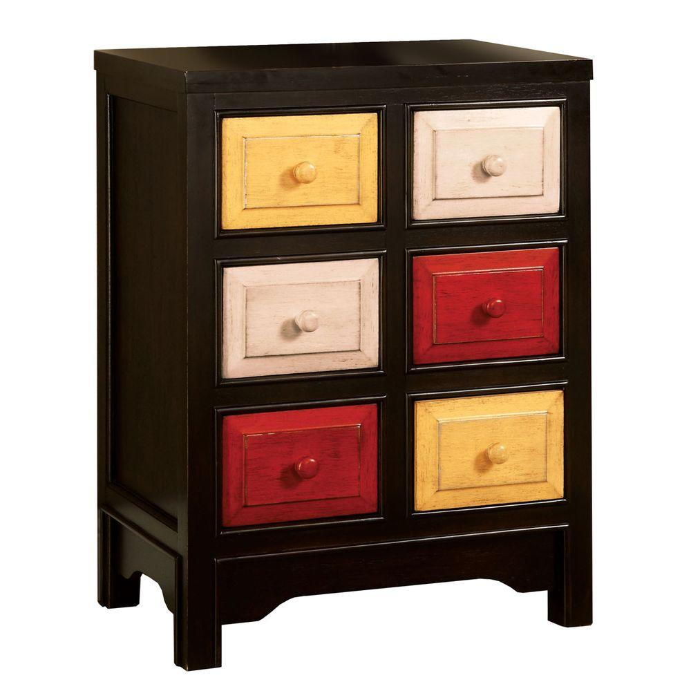 Home Decorators Collection Woodstock I Espresso 6-Drawer Chest-DISCONTINUED