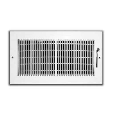 10 in. x 4 in. 2-Way 1/3 in. Fin Spaced Wall/Ceiling Register