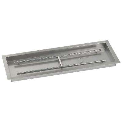 36 in. x 12 in. Stainless Steel Rectangular Drop-In Fire Pit Pan