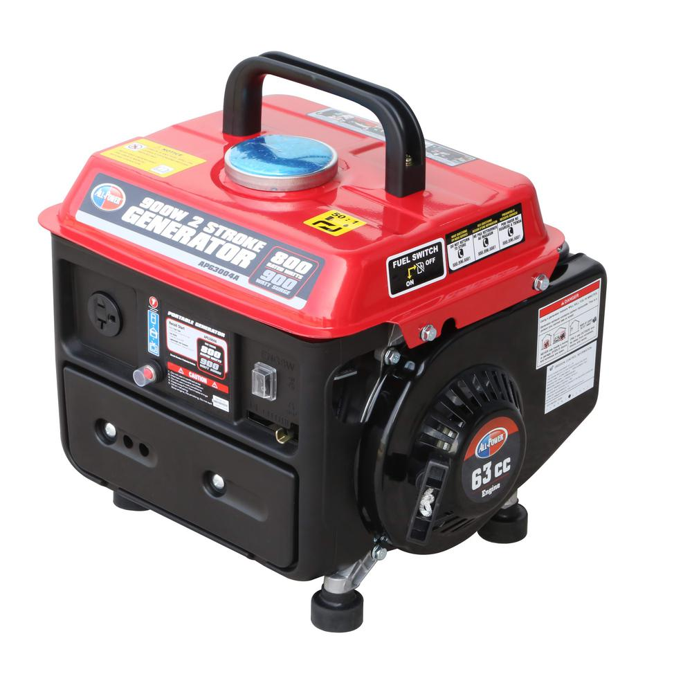 All Power 800-Watt Gas and Oil 2 Stroke Portable Generator