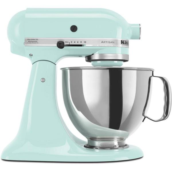 Kitchenaid Artisan 5 Qt 10 Speed Ice Blue Stand Mixer With