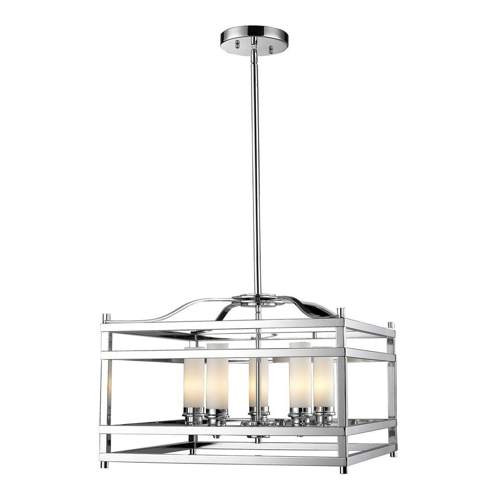Filament Design Lawrence 5-Light Chrome Candelabra Ceiling Pendant