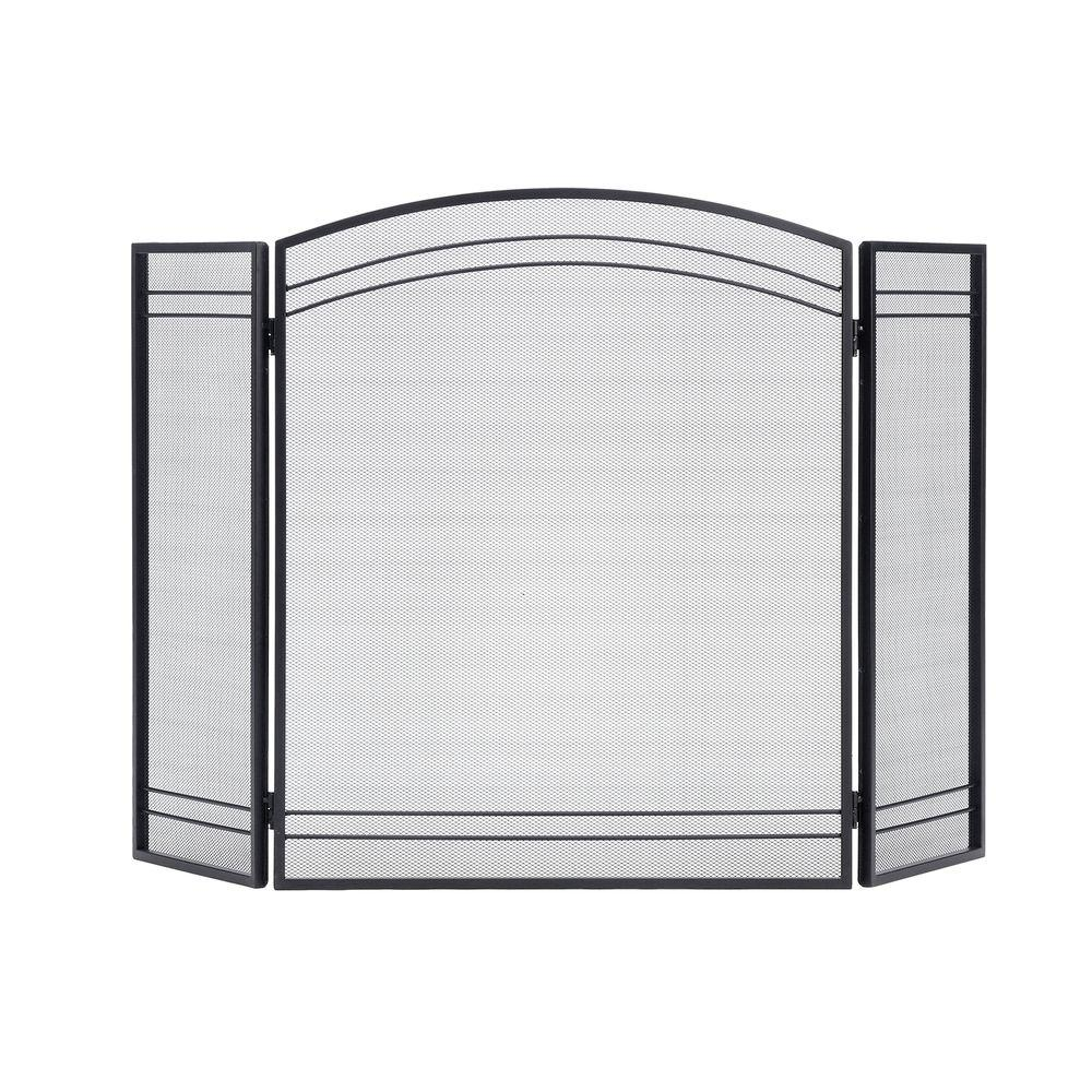 shelterlogic classic black 3 panel fireplace screen 90393 the