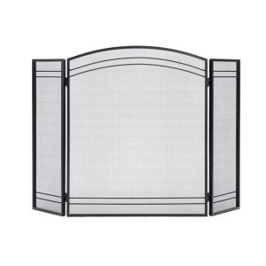Shelterlogic Clic Black 3 Panel Fireplace Screen 90393 The Home Depot