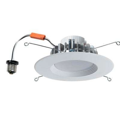 5 in. or 6 in. White Integrated LED Recessed Kit