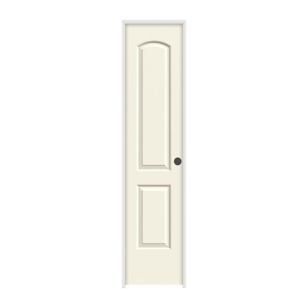 Jeld wen 18 in x 80 in continental vanilla painted left for 18 x 80 prehung interior door