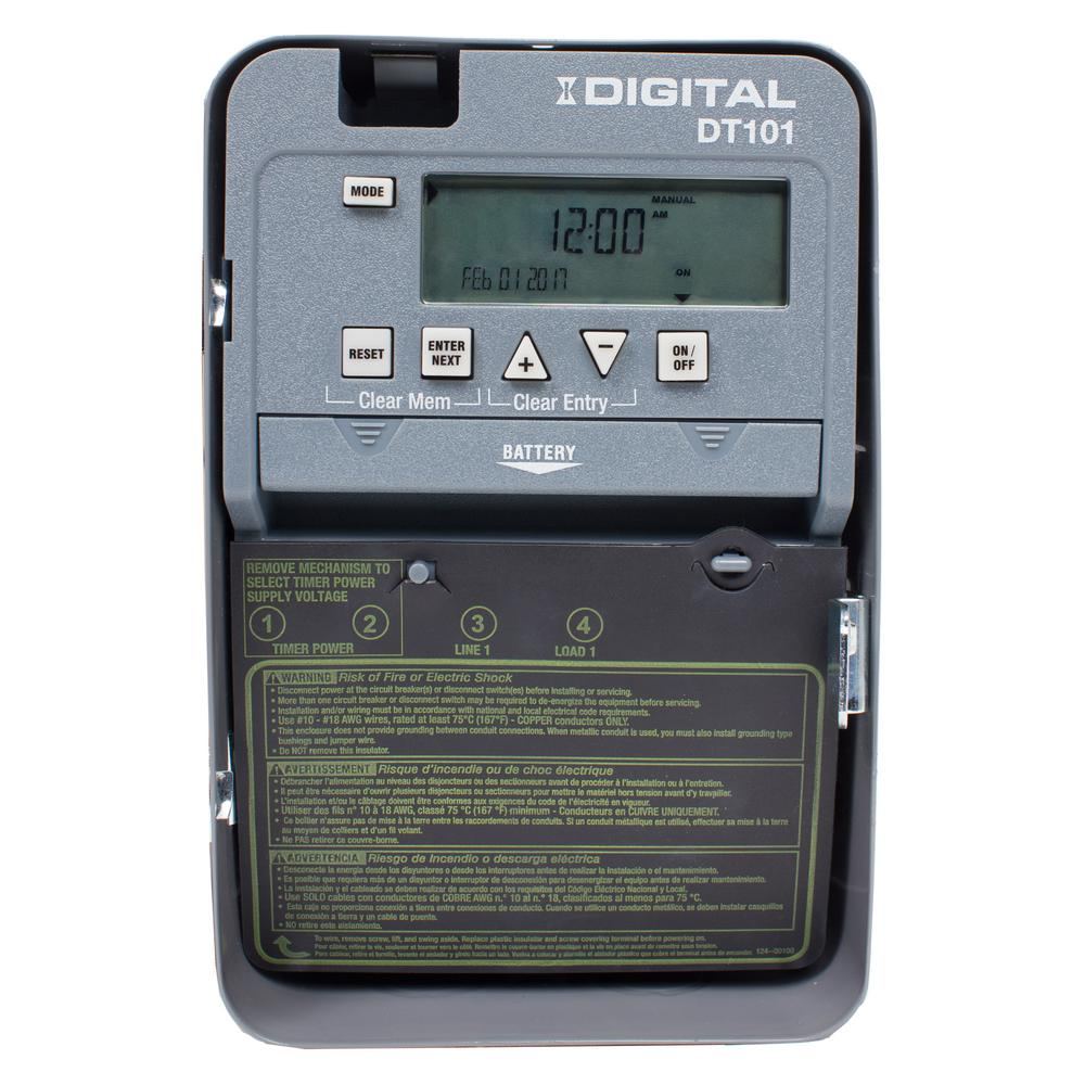 Intermatic 20 Amp 24 Hour Spst 1 Circuit Digital Time Switch With 64 Et Wiring Diagram Indoor Enclosure