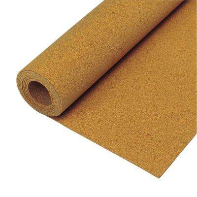 200 sq. ft. 48 in. x 50 ft. x 1/4 in. Natural Cork Underlayment Roll