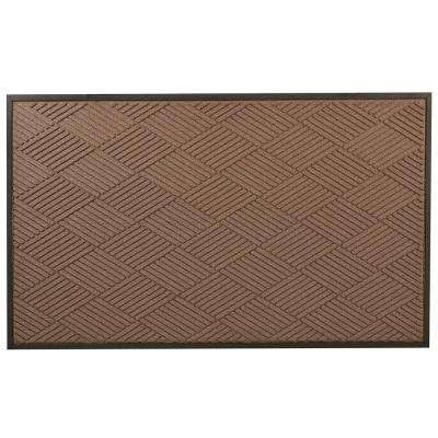 Opus Brown 36 in. x 60 in. Rubber-Backed Entrance Mat