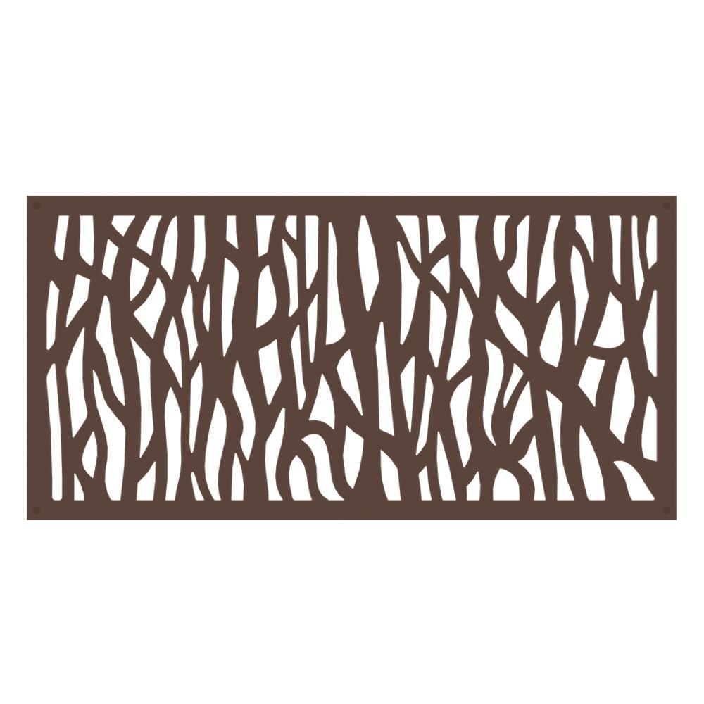 Sprig 4 ft. x 2 ft. Brazilian Walnut Polymer Decorative Screen Panel