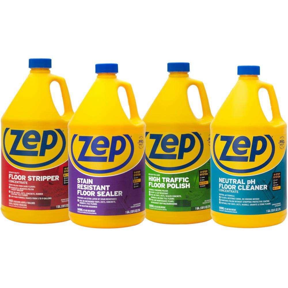 Zep 1 Gal Floor Cleaning Kit 4 Pack