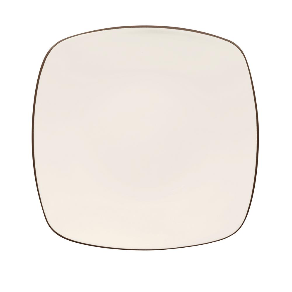 Colorwave 10.75 in. Chocolate Square Dinner Plate