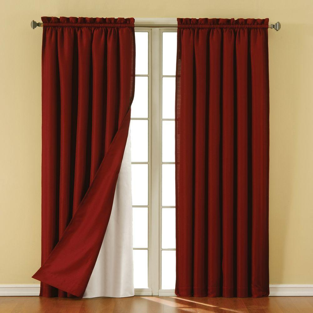 Thermaliner White Blackout Energy Saving Curtain Liners, 60 in. Length (1-Pair)