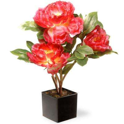 15 in. Artificial Fuchsia Peony Flower