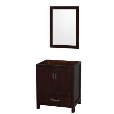 Sheffield 30 in. Vanity Cabinet with Mirror in Espresso