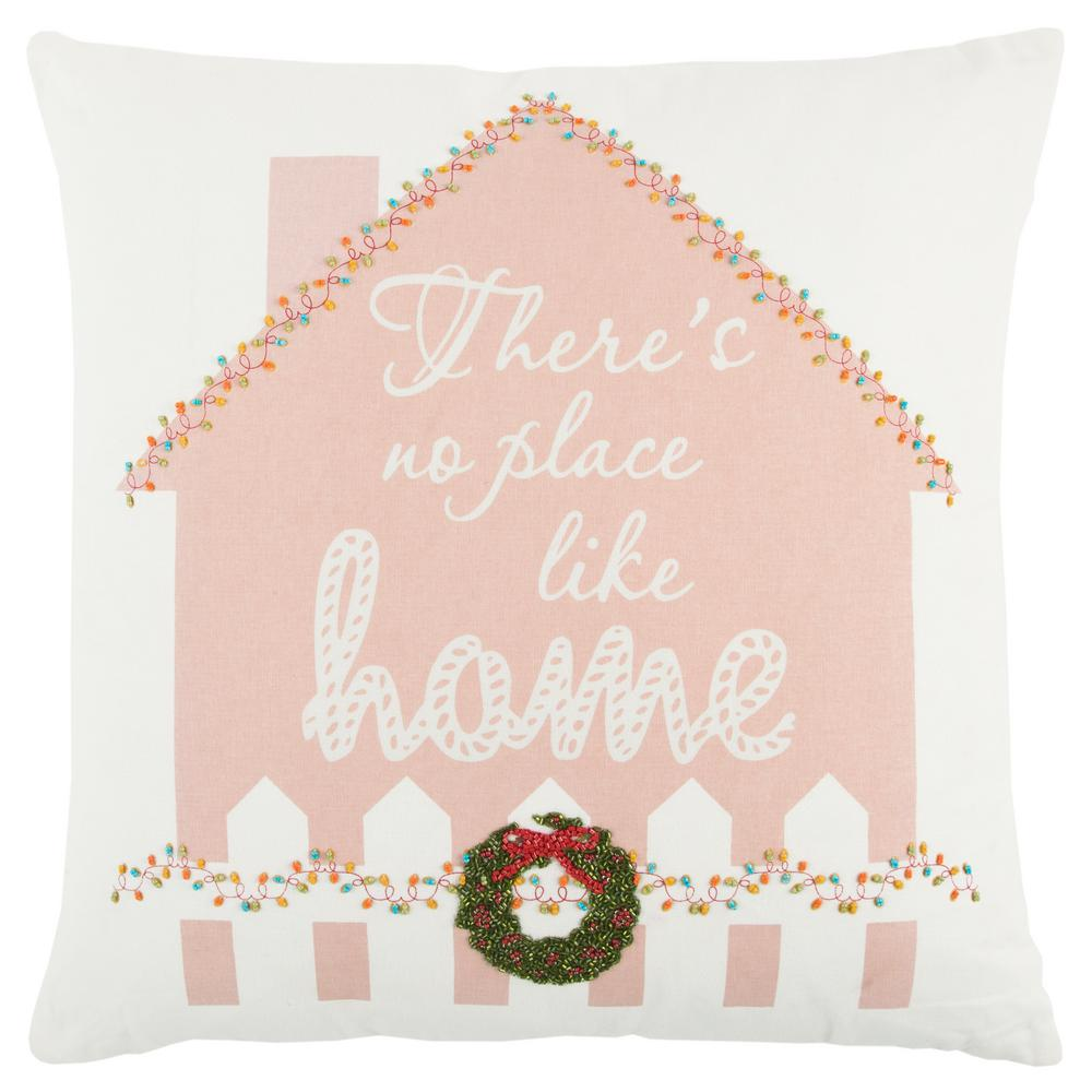 Christmas Gingerbread House 20 in. x 20 in. Decorative Filled Pillow