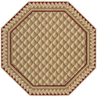 Vallencierre Camel 6 Ft Octagon Area Rug