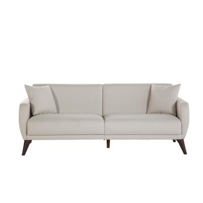 Flexy 78.7 in. Beige Polyester 3-Seater Twin Sleeper Sofa Bed with Storage