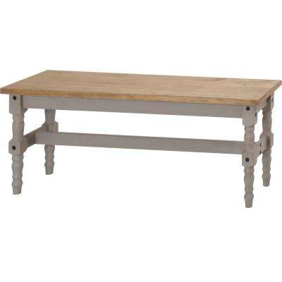 Jay 47.25 in. Gray Wash Solid Wood Dining Bench
