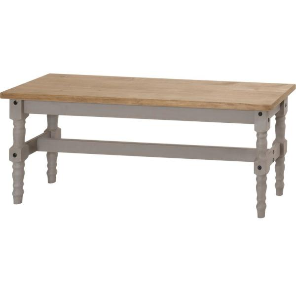 Manhattan Comfort Jay 47.25 in. Gray Wash Solid Wood Dining Bench