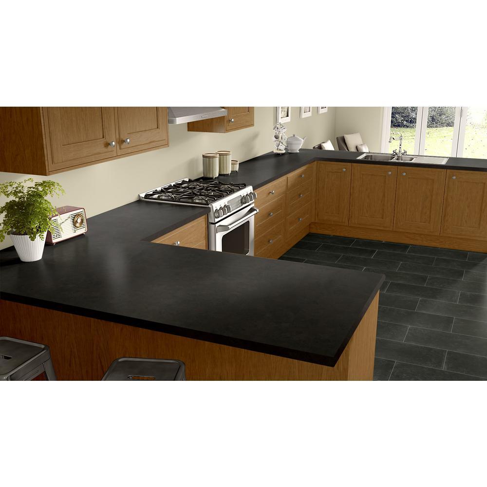 Wilsonart 2 In X 3 In Laminate Countertop Sample In Rustic Slate With Standard Fine Velvet Texture Finish Mc 2x3488838 The Home Depot