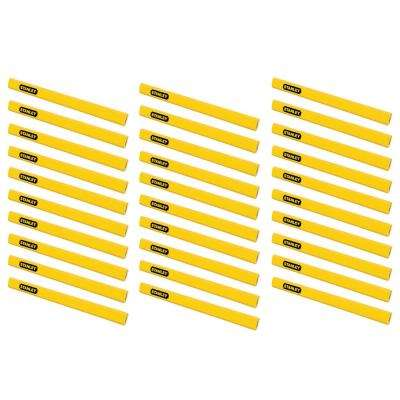 Carpenter Pencil, Yellow (30-Pack)