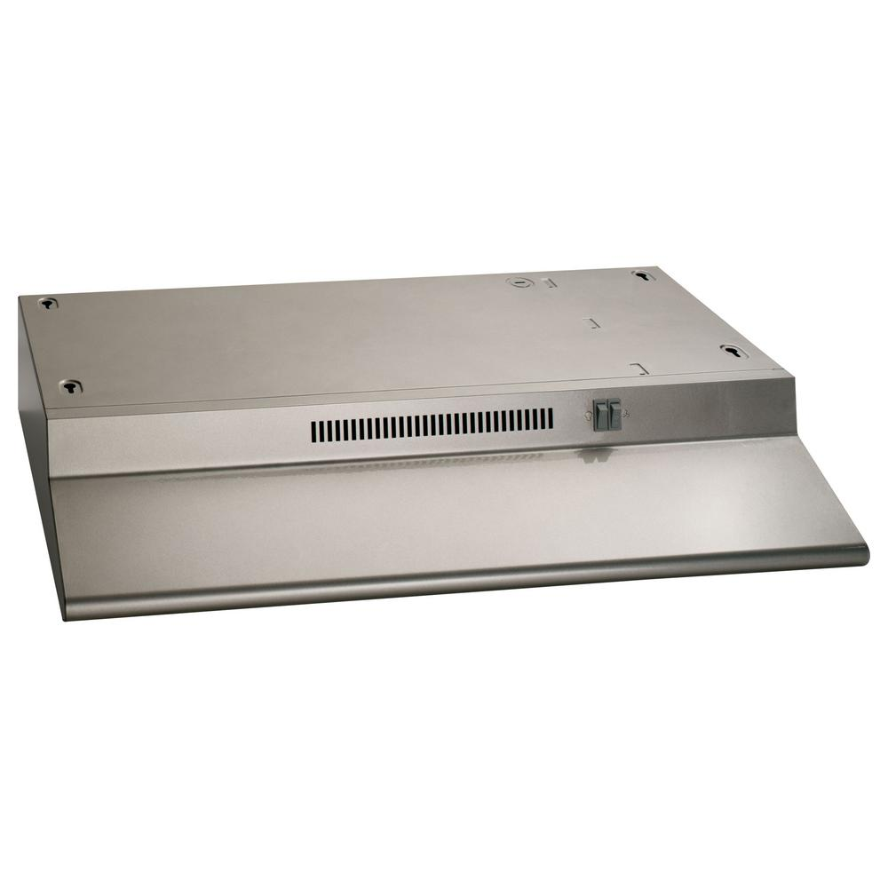 Ge 30 In Ductless Under Cabinet Standard Range Hood With Light In Silver