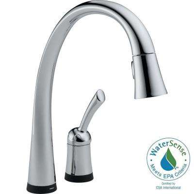 Pilar Single-Handle Pull-Down Sprayer Kitchen Faucet with Touch2O Technology and MagnaTite Docking in Chrome
