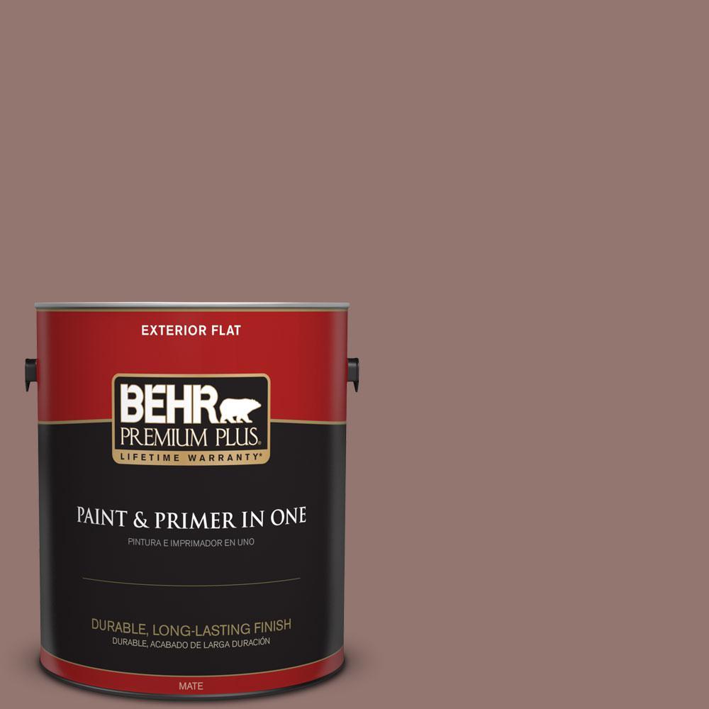 BEHR Premium Plus 1-gal. #710B-5 Milk Chocolate Flat Exterior Paint