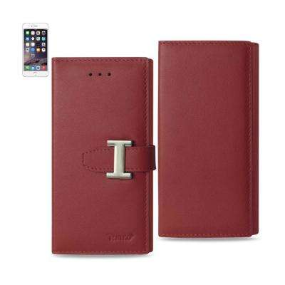 iPhone 6/6S Genuine Leather Design Case in Burgundy