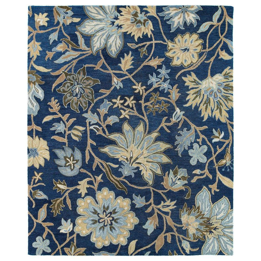 Kaleen Brooklyn Brody Blue 5 Ft X 7 Ft 6 In Area Rug
