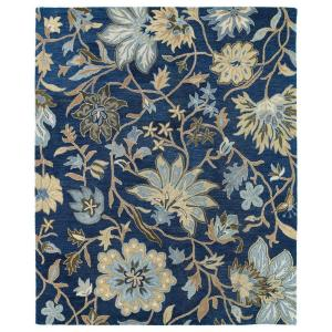 brooklyn brody blue 7 ft 6 in x 9 ft area rug
