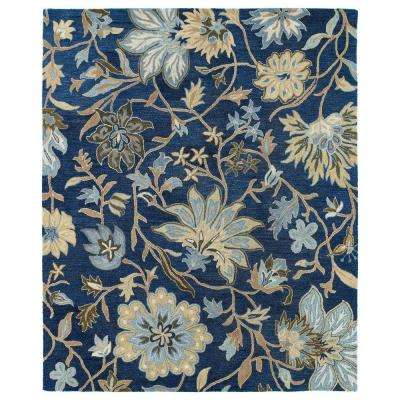 Brooklyn Brody Blue 8 ft. x 11 ft. Area Rug