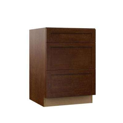 Soleste Assembled 24x34.5x23.75 in. Drawer Base Kitchen Cabinet in Spice