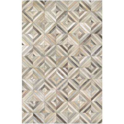 Chalet Blocks Ivory 2 ft. x 4 ft. Area Rug
