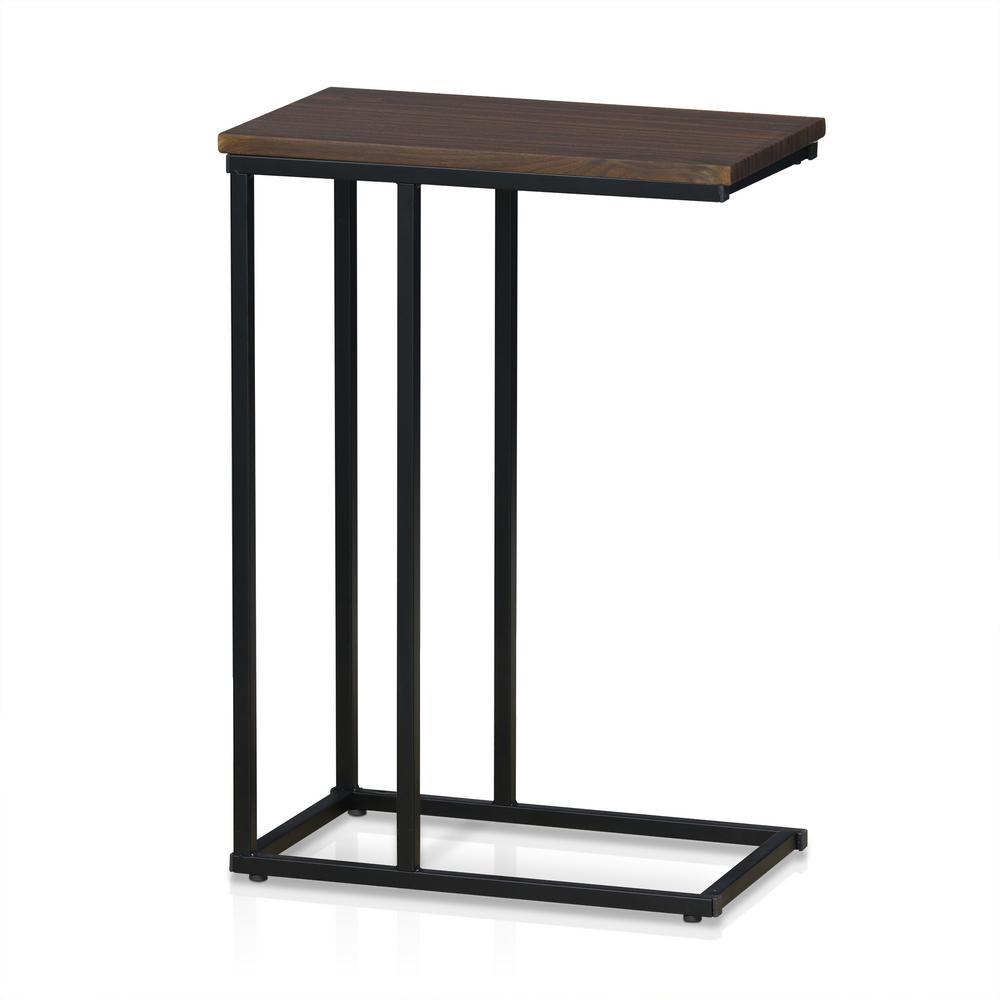 Furinno Modern Dark Walnut Side Table